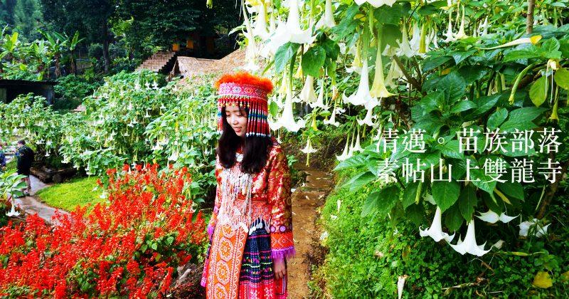 清邁景點 素帖山雙龍寺泰國人教我拜拜 順便去苗族村看看