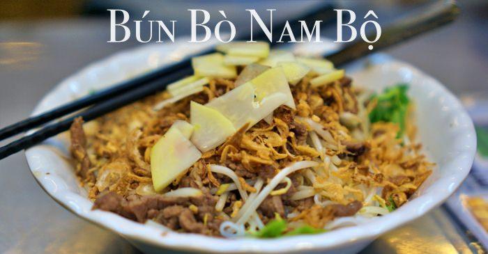 河內古城美食|牛肉米線沙拉Bún Bò Nam Bộ,36古街排隊小吃