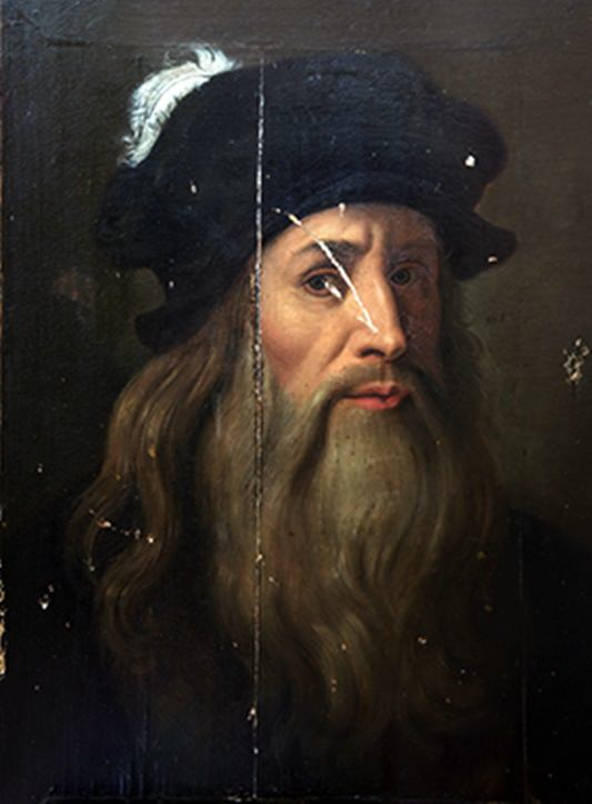30.Leonardo da Vinci Selfportrait
